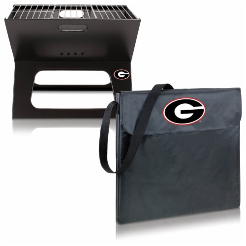Georgia Bulldogs - X-Grill Portable Charcoal BBQ Grill Perspective: top
