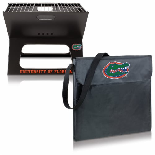 Florida Gators - X-Grill Portable Charcoal BBQ Grill Perspective: top