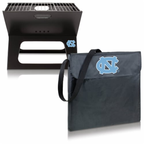 North Carolina Tar Heels - X-Grill Portable Charcoal BBQ Grill Perspective: top