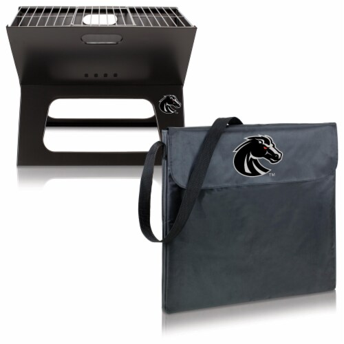 Boise State Broncos - X-Grill Portable Charcoal BBQ Grill Perspective: top