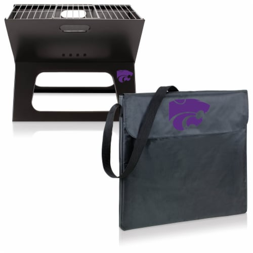 Kansas State Wildcats - X-Grill Portable Charcoal BBQ Grill Perspective: top