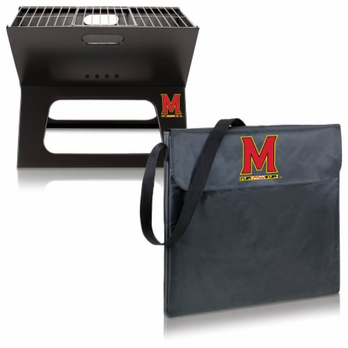 Maryland Terrapins - X-Grill Portable Charcoal BBQ Grill Perspective: top
