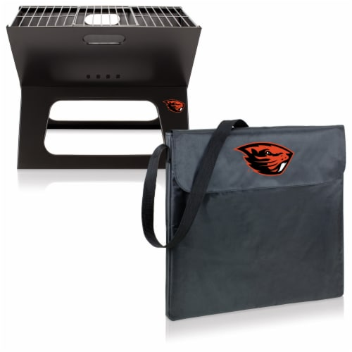 Oregon State Beavers - X-Grill Portable Charcoal BBQ Grill Perspective: top