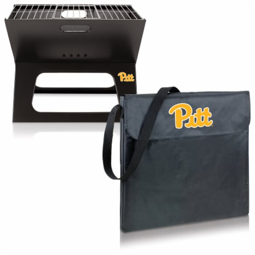 Pitt Panthers - X-Grill Portable Charcoal BBQ Grill Perspective: top