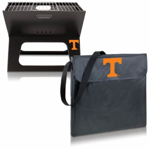Tennessee Volunteers - X-Grill Portable Charcoal BBQ Grill Perspective: top