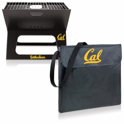 Cal Bears - X-Grill Portable Charcoal BBQ Grill Perspective: top