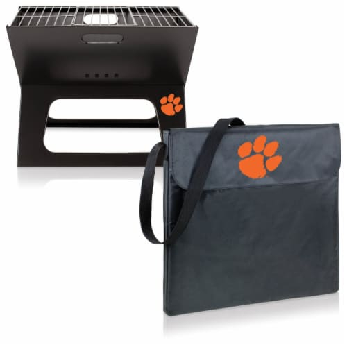 Clemson Tigers - X-Grill Portable Charcoal BBQ Grill Perspective: top