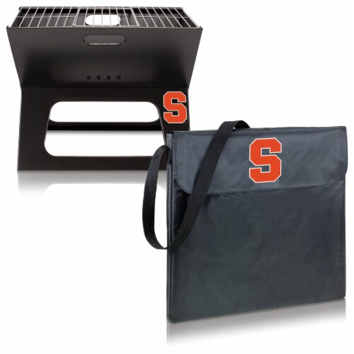 Syracuse Orange - X-Grill Portable Charcoal BBQ Grill Perspective: top