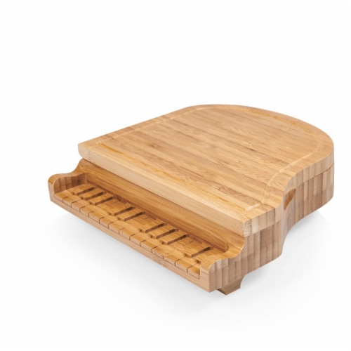 Piano Cheese Cutting Board & Tools Set, Bamboo Perspective: top