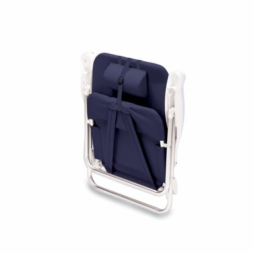 Monaco Reclining Beach Backpack Chair, Navy Blue Perspective: top