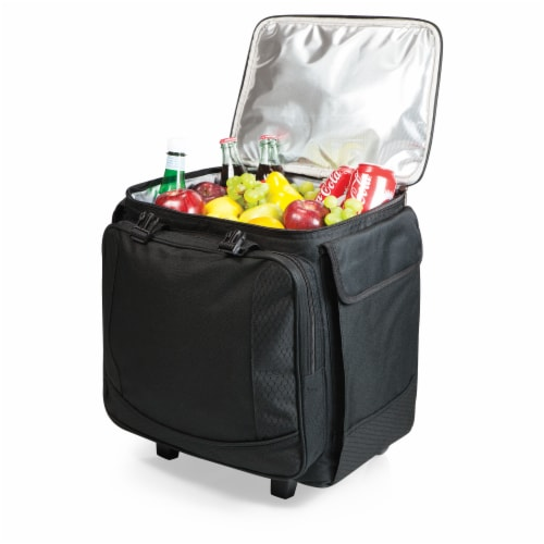 Bodega Rolling Wine Cooler, Black Perspective: top
