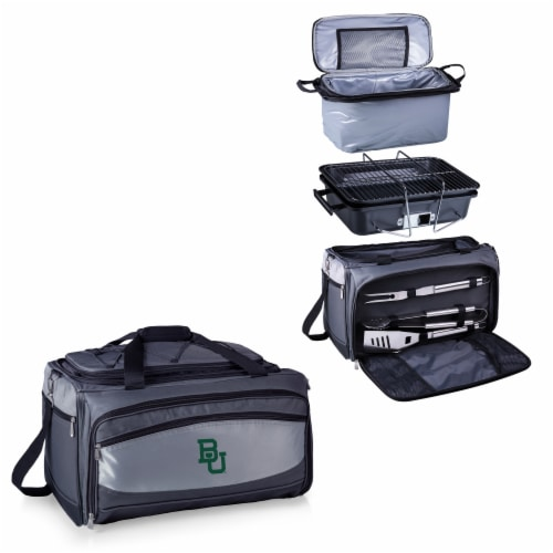 Baylor Bears - Portable Charcoal Grill & Cooler Tote Perspective: top