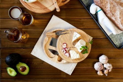 Baltimore Ravens - Brie Cheese Cutting Board & Tools Set Perspective: top