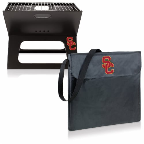 USC Trojans - X-Grill Portable Charcoal BBQ Grill Perspective: top