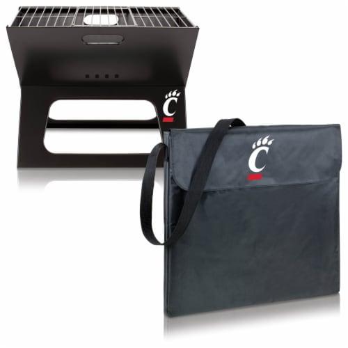 Cincinnati Bearcats - X-Grill Portable Charcoal BBQ Grill Perspective: top