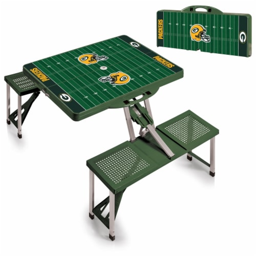 Green Bay Packers Portable Picnic Table Perspective: top