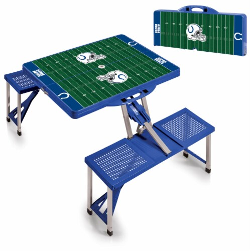 Indianapolis Colts - Picnic Table Portable Folding Table with Seats Perspective: top