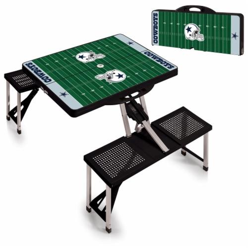 Dallas Cowboys Portable Picnic Table Perspective: top