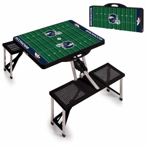 Denver Broncos Portable Picnic Table Perspective: top