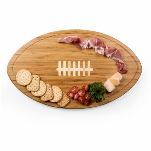 Kickoff Football Cutting Board & Serving Tray, Bamboo Perspective: top