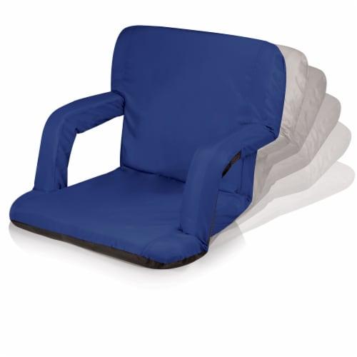 Ventura Portable Reclining Stadium Seat, Navy Blue Perspective: top