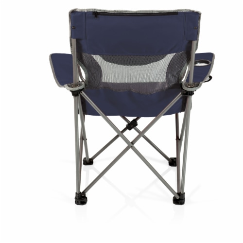 Campsite Camp Chair, Navy Blue with Gray Accents Perspective: top