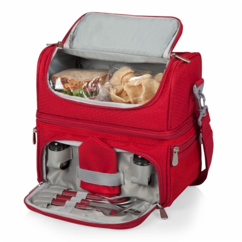 Pranzo Lunch Cooler Bag, Red Perspective: top