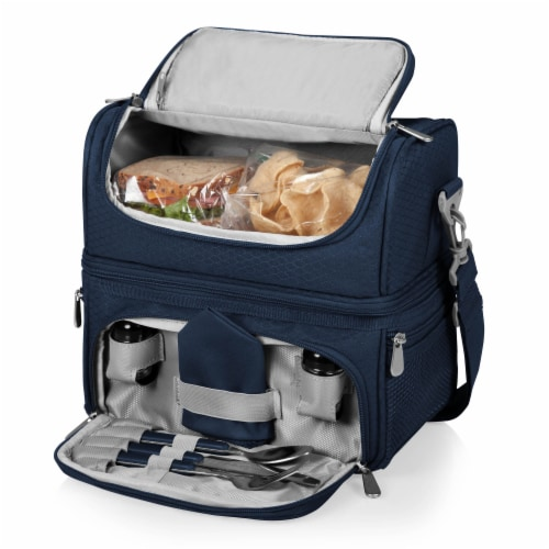 Pranzo Lunch Cooler Bag, Navy Blue Perspective: top