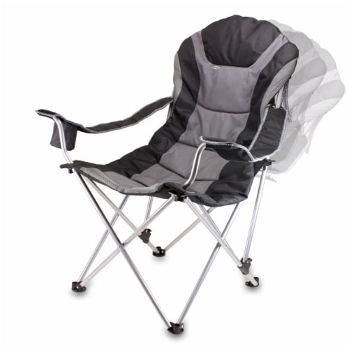 Iowa Hawkeyes - Reclining Camp Chair Perspective: top