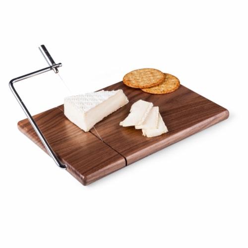 Meridian Black Walnut Cutting Board & Cheese Slicer, Black Walnut Perspective: top