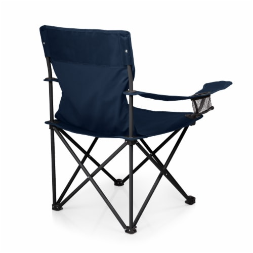 PTZ Camp Chair, Navy Blue Perspective: top