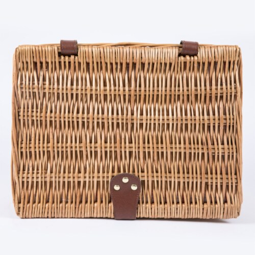 Catalina Picnic Basket, Red & White Plaid Pattern Perspective: top