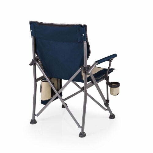Outlander Folding Camp Chair with Cooler, Navy Blue Perspective: top