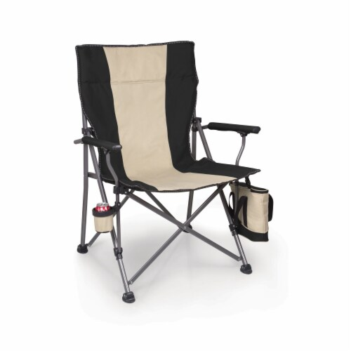 Big Bear XL Folding Camp Chair with Cooler, Black Perspective: top