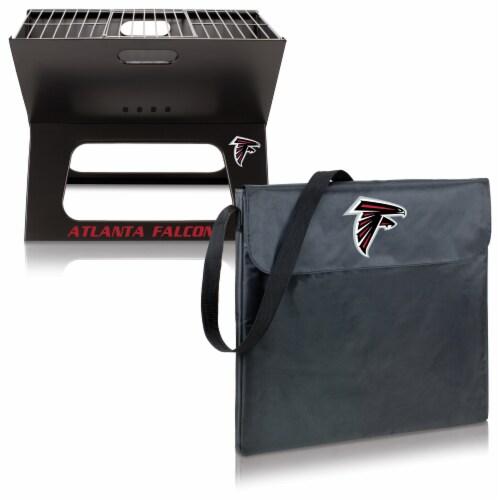 Atlanta Falcons - X-Grill Portable Charcoal BBQ Grill Perspective: top