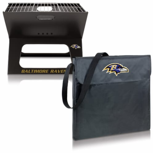 Baltimore Ravens - X-Grill Portable Charcoal BBQ Grill Perspective: top