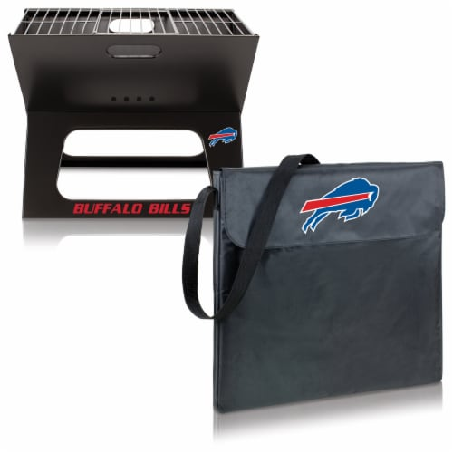 Buffalo Bills - X-Grill Portable Charcoal BBQ Grill Perspective: top