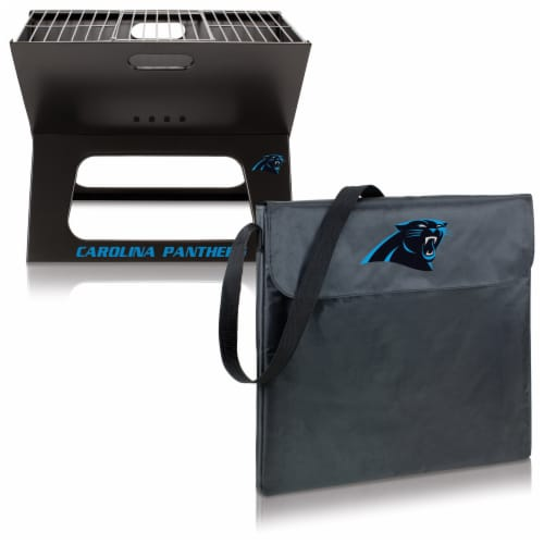 Carolina Panthers - X-Grill Portable Charcoal BBQ Grill Perspective: top