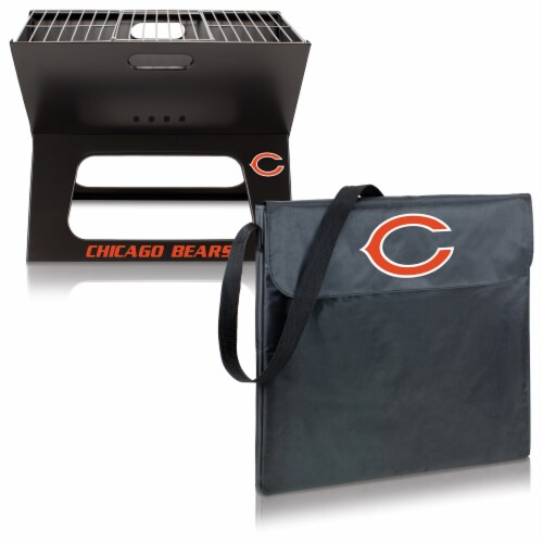 Chicago Bears - X-Grill Portable Charcoal BBQ Grill Perspective: top