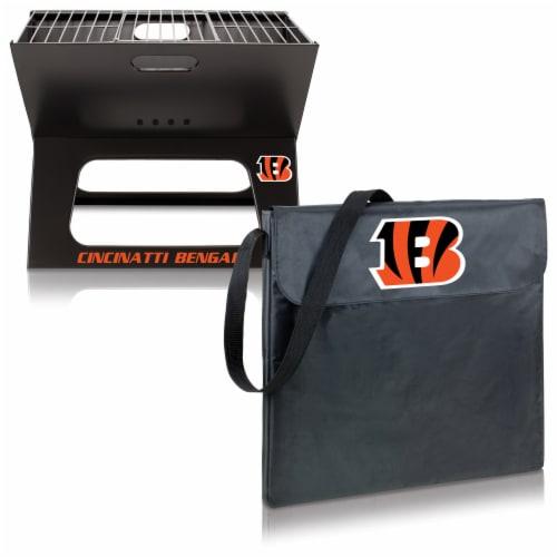 Cincinnati Bengals - X-Grill Portable Charcoal BBQ Grill Perspective: top