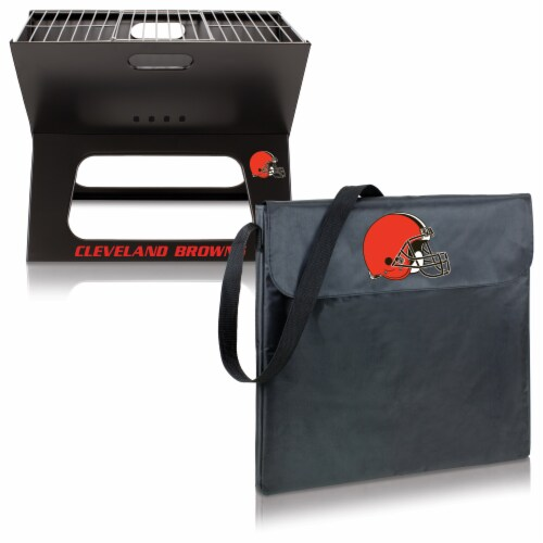 Cleveland Browns - X-Grill Portable Charcoal BBQ Grill Perspective: top