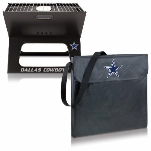 Dallas Cowboys - X-Grill Portable Charcoal BBQ Grill Perspective: top