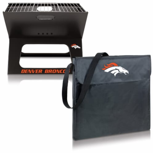 Denver Broncos - X-Grill Portable Charcoal BBQ Grill Perspective: top
