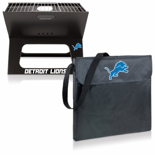 Detroit Lions - X-Grill Portable Charcoal BBQ Grill Perspective: top