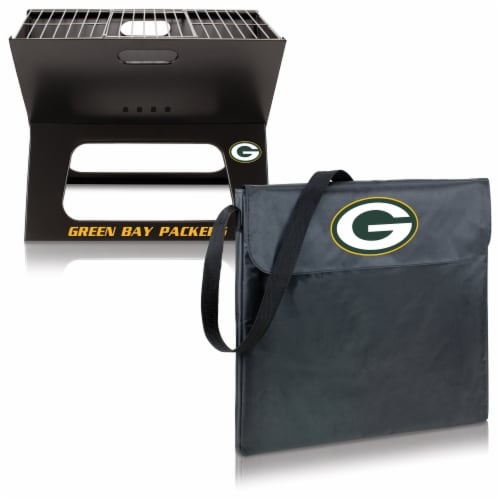 Green Bay Packers - X-Grill Portable Charcoal BBQ Grill Perspective: top