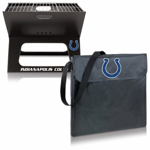 Indianapolis Colts - X-Grill Portable Charcoal BBQ Grill Perspective: top