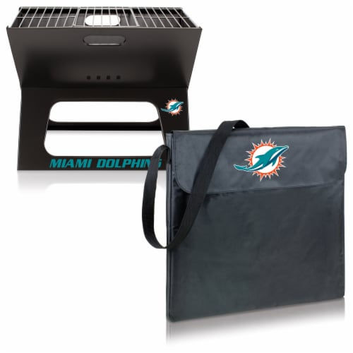 Miami Dolphins - X-Grill Portable Charcoal BBQ Grill Perspective: top