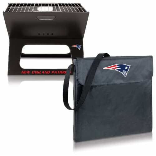 New England Patriots - X-Grill Portable Charcoal BBQ Grill Perspective: top