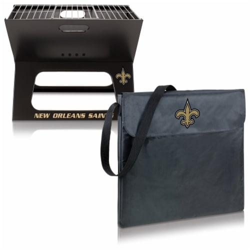 New Orleans Saints - X-Grill Portable Charcoal BBQ Grill Perspective: top