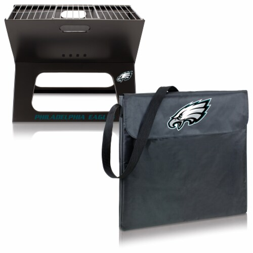 Philadelphia Eagles - X-Grill Portable Charcoal BBQ Grill Perspective: top